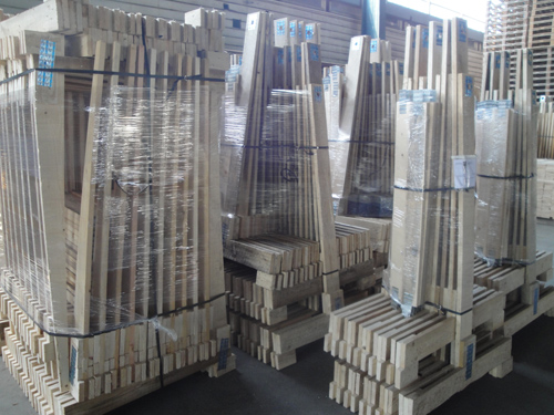 Stocks of chavalets ready for shipment